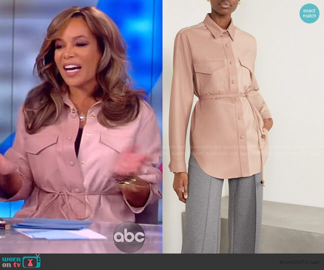 Eddy Blouse by Nanushka worn by Sunny Hostin  on The View