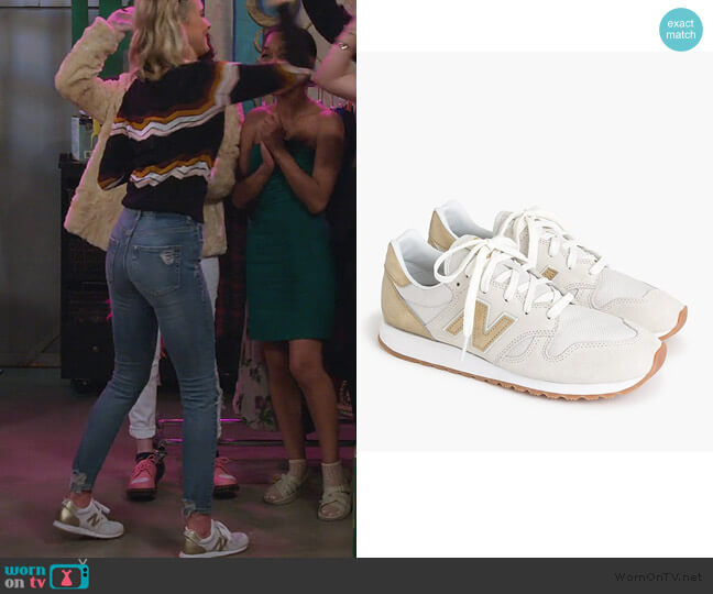 520 Sneakers in Gold Salt by New Balance worn by Katie Cooper (Isabel May) on Alexa & Katie