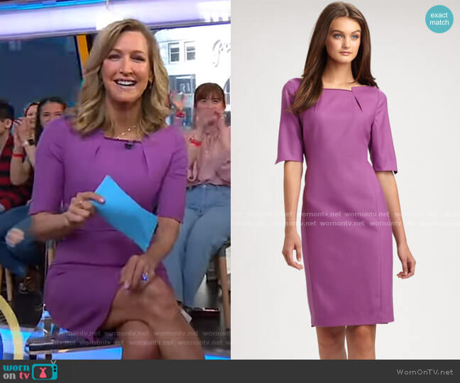 Nicola Dress by Elie Tahari worn by Lara Spencer  on Good Morning America