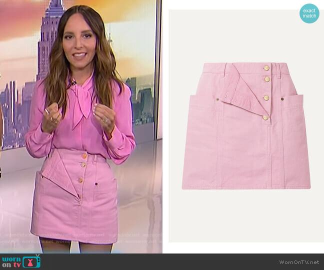 Nimes Skirt by Jacquemus worn by Lilliana Vazquez  on E! News