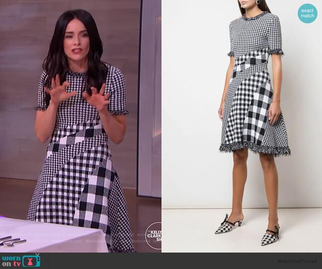 Checked Dress by Oscar de la Renta