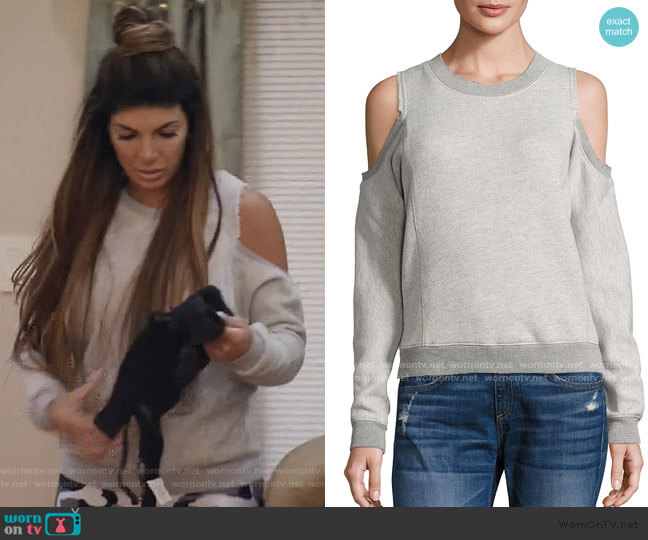 Maia Sweatshirt by n Philanthropy worn by Teresa Giudice  on The Real Housewives of New Jersey