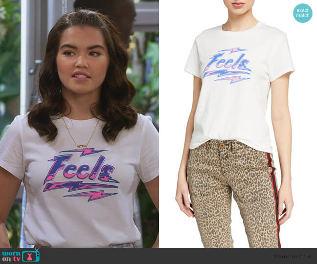 Feel Basic Logo Tee by Pam and Gela worn by Alexa Mendoza (Paris Berelc) on Alexa & Katie