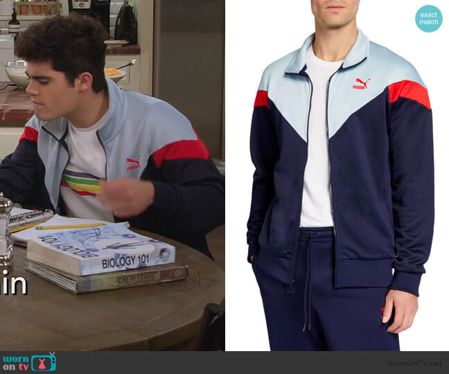 Iconic MCS Track Jacket by Puma worn by Emery Kelly on Alexa and Katie