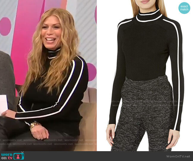 Racer Rib Pullover by Milly worn by Jill Martin  on Today