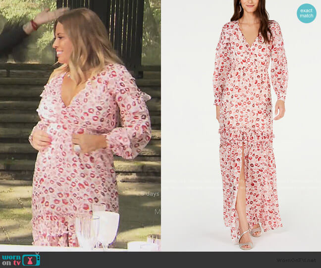 Yvonne Ruffled Lip-Print Gown by Rachel Zoe worn by Dolores Catania  on The Real Housewives of New Jersey