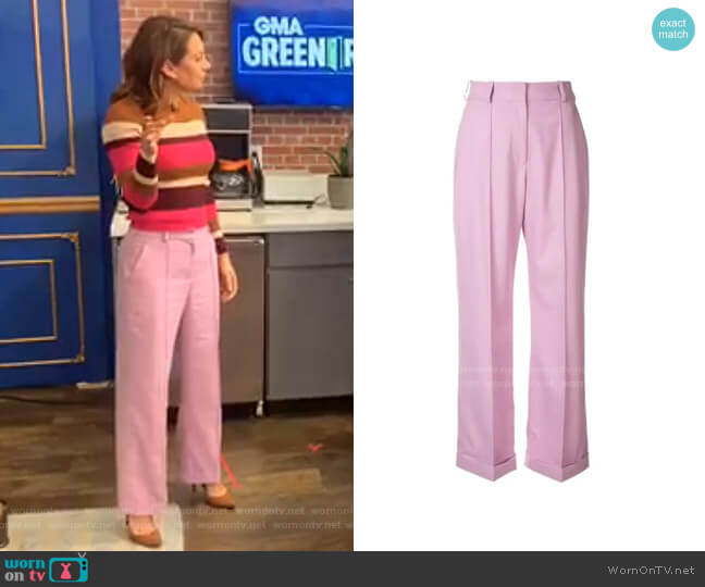 High-Waisted Trousers by Racil worn by Ginger Zee  on Good Morning America