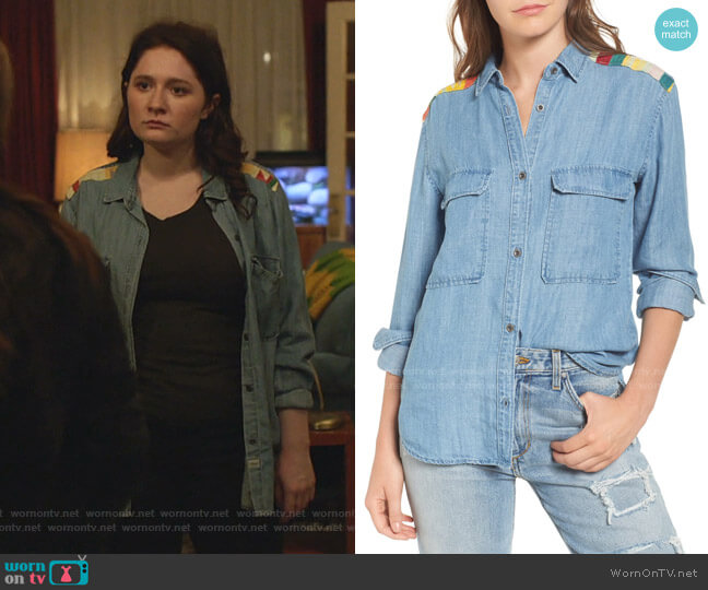 Jimi Chambray Shirt by Rails worn by Debbie Gallagher (Emma Kenney) on Shameless