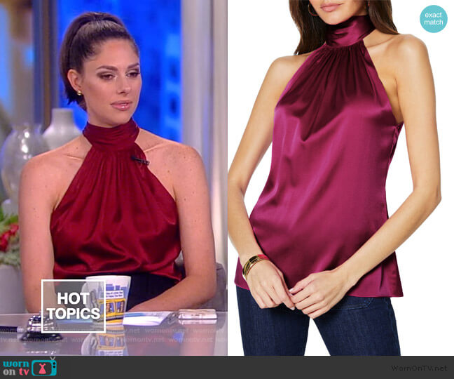 Lori Stretch Silk Halter Top by Ramy Brook worn by Abby Huntsman  on The View
