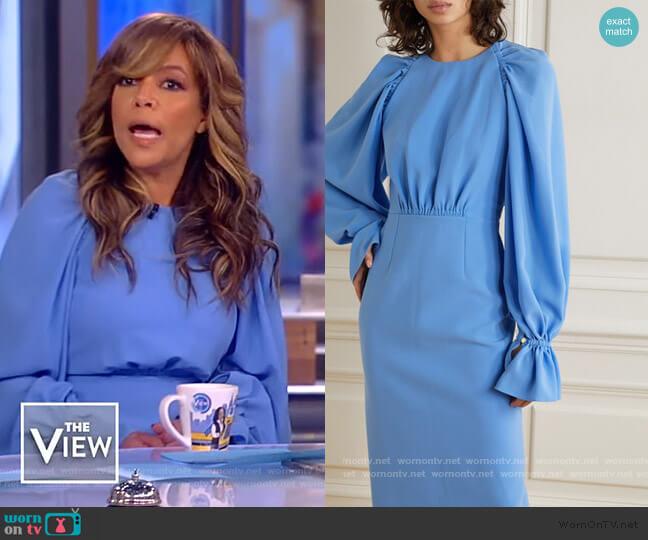 Vaniria Gathered Cady Dress by Roksanda worn by Sunny Hostin  on The View