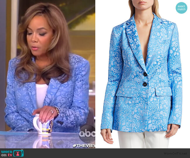 Brocade Classic Blazer by Rosie Assoulin worn by Sunny Hostin  on The View
