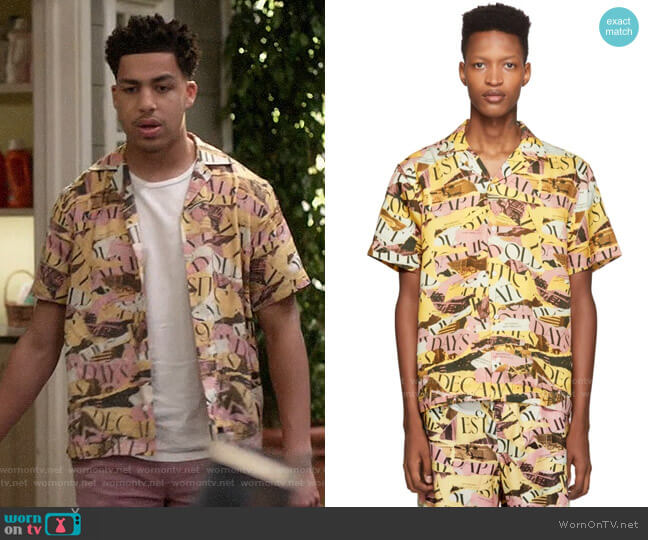 Saturdays NYC Canty Decade Shirt worn by Andre Johnson Jr (Marcus Scribner) on Blackish