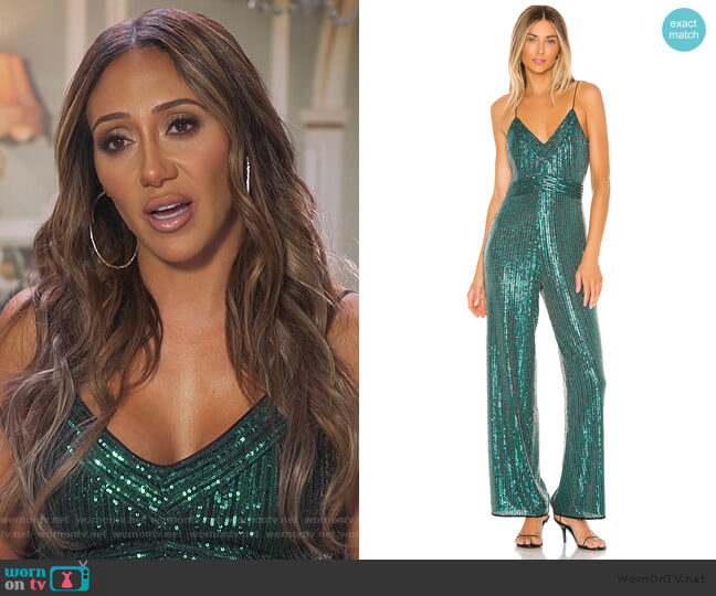 Louisana Jumpsuit by Saylor worn by Melissa Gorga  on The Real Housewives of New Jersey