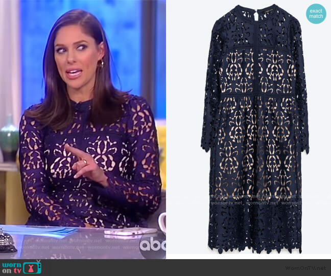 Floral Lace Midi Dress by Self Portrait worn by Abby Huntsman  on The View