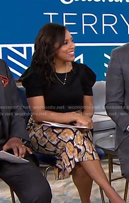 Sheinelle's printed pencil skirt on Today