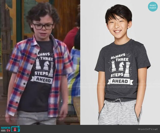 Short Sleeve Graphic T-Shirt by Cat & Jack at Target worn by Matteo Silva (Raphael Alejandro) on Bunkd