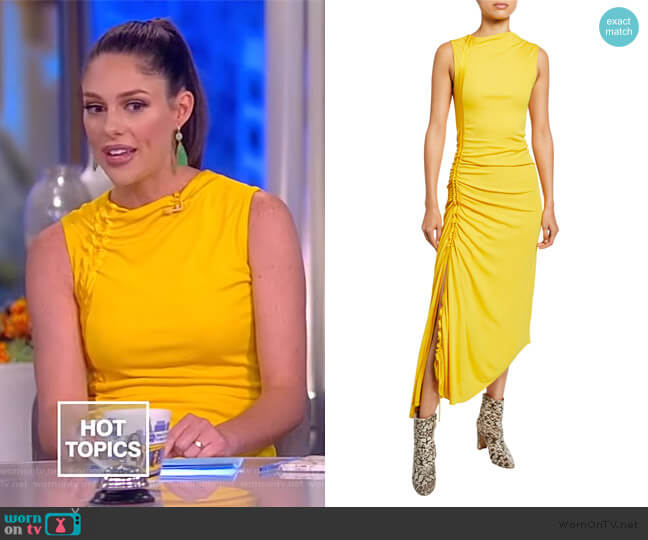 Jersey Side-Ruched Dress by Sies Marjan worn by Abby Huntsman  on The View