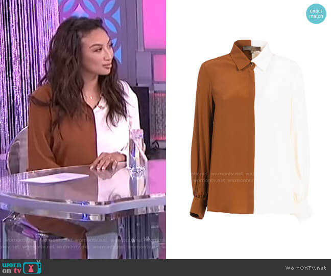 Space Shirt by Simona Corsellini  worn by Jeannie Mai  on The Real
