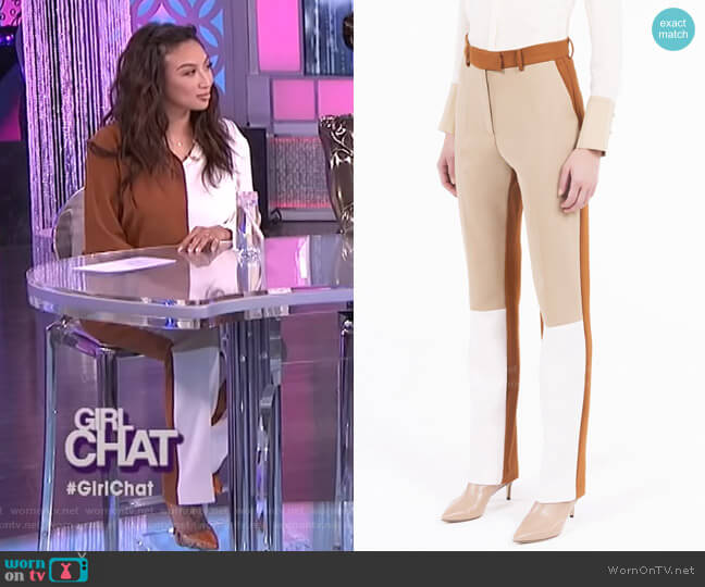 Space Trousers by Simona Corsellini worn by Jeannie Mai  on The Real