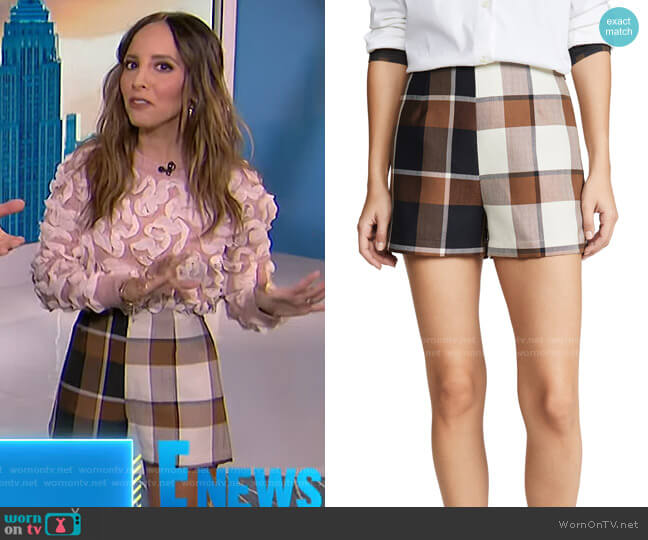 Leah Shorts by Staud worn by Lilliana Vazquez  on E! News