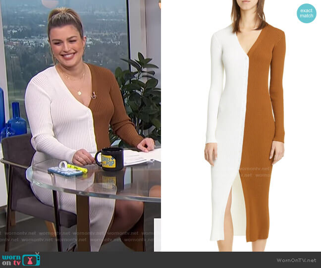 Shoko Colorblock Sweater by Staud worn by Carissa Loethen Culiner  on E! News