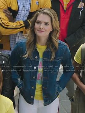 Sutton's denim jacket on The Bold Type
