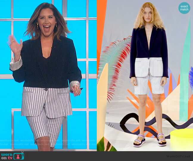 Spring 2020 Collection by Tanya Taylor worn by Ashley Tisdale on The Talk