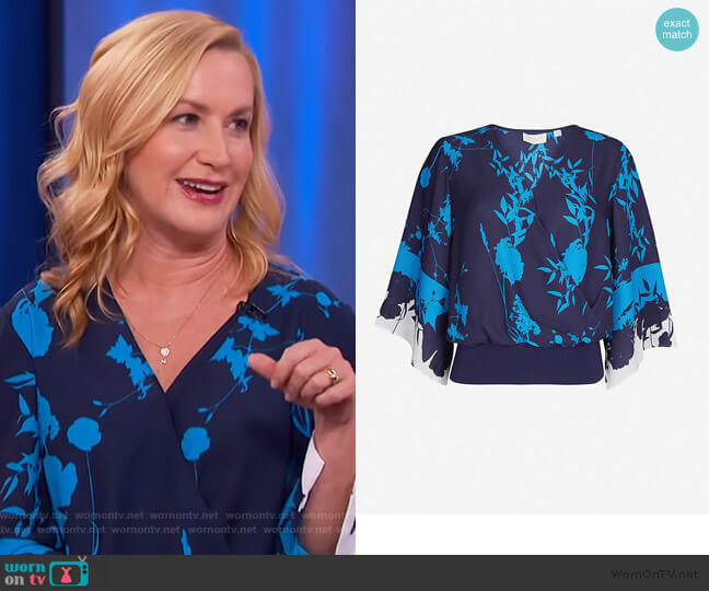 Margiel kimono sleeve top by Ted Baker worn by Angela Kinsey on The View
