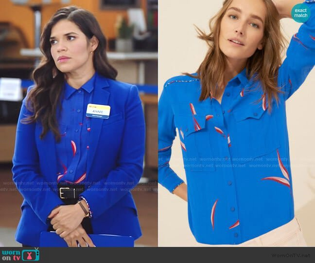ba&shTerry Shirt worn by Amy (America Ferrera) on Superstore
