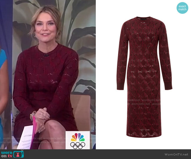 Merino Wool Crochet Knit Dress by Thakoon worn by Savannah Guthrie  on Today