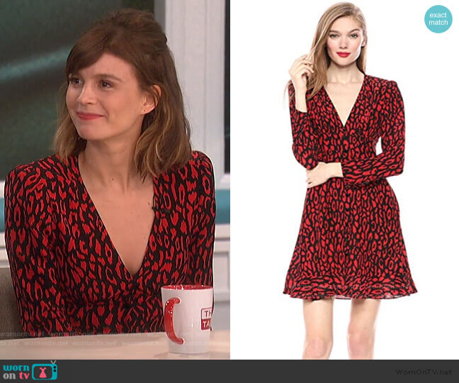 Leopard Print Dress by The Kooples worn by Katja Herbers on The Talk