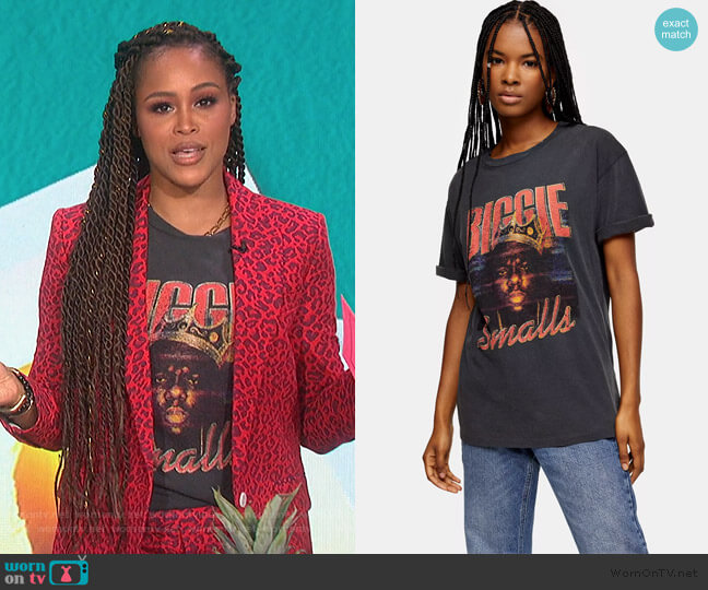 Biggie Smalls Graphic Tee by Topshop worn by Eve  on The Talk
