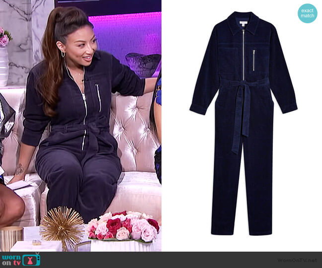Navy Corduroy Boiler Jumpsuit by Topshop worn by Jeannie Mai  on The Real