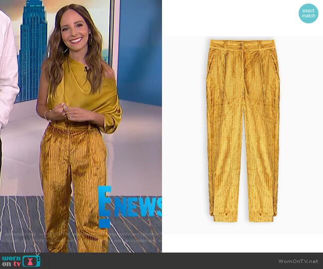 Corduroy Trousers by Ulla Johnson worn by Lilliana Vazquez  on E! News