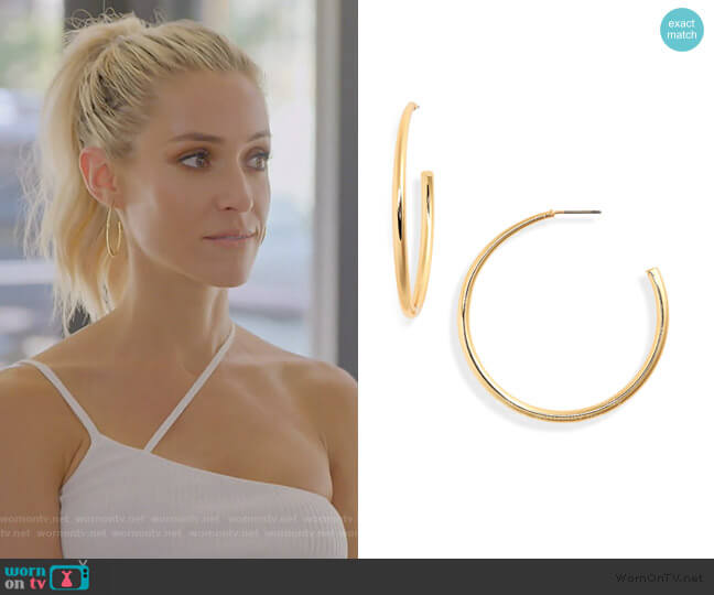 Demonbreun Hoop Earrings by Uncommon James worn by Kristin Cavallari  on Very Cavallari