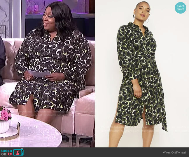 Utility Shirtdress by Eloquii worn by Loni Love  on The Real