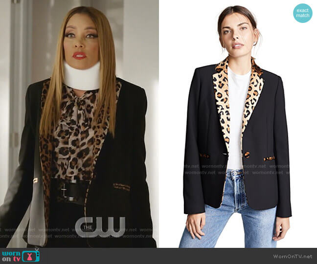 Gaia Blazer by Valentina Shah worn by Dominique Deveraux (Michael Michele) on Dynasty