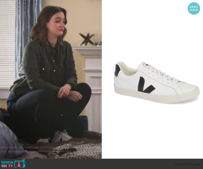 Esplar Sneaker by Veja worn by Angie (Leighton Meester) on Single Parents