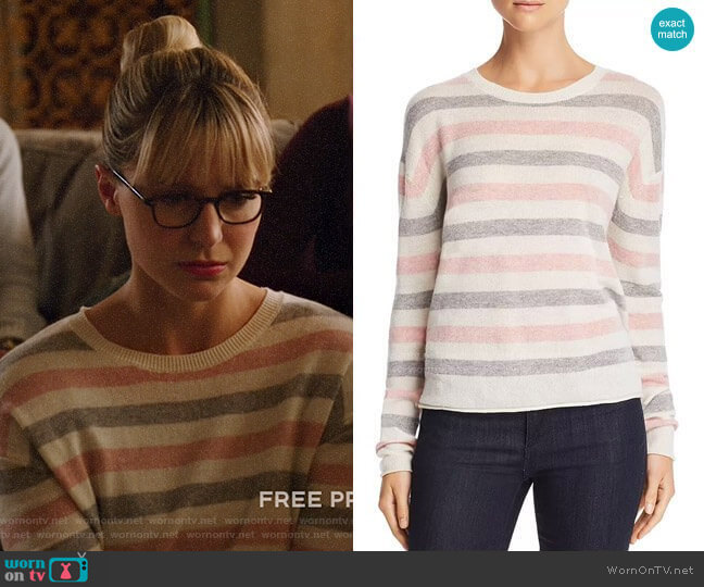 Velvet by Graham & Spencer Striped Crewneck Sweater  worn by Kara Danvers (Melissa Benoist) on Legends of Tomorrow