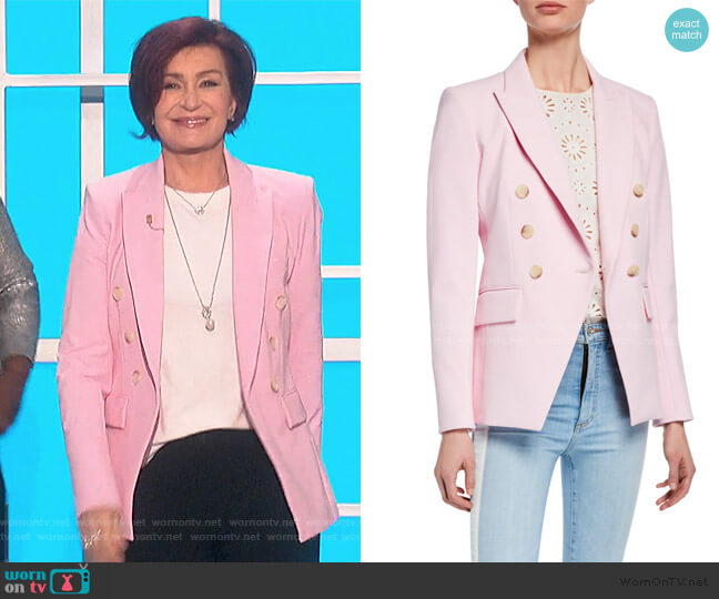 Lonny Double-Breasted Dickey Jacket by Veronica Beard worn by Sharon Osbourne  on The Talk