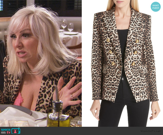iller Leopard Print Dickey Jacket by Veronica Beard worn by Margaret Josephs  on The Real Housewives of New Jersey