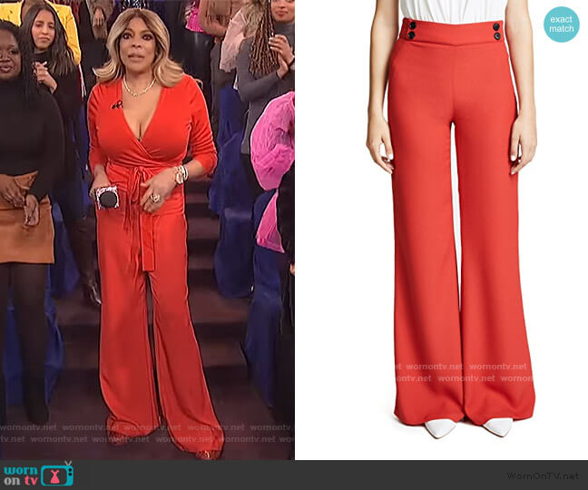 Taren Trousers by Veronica Beard worn by Wendy Williams  on The Wendy Williams Show