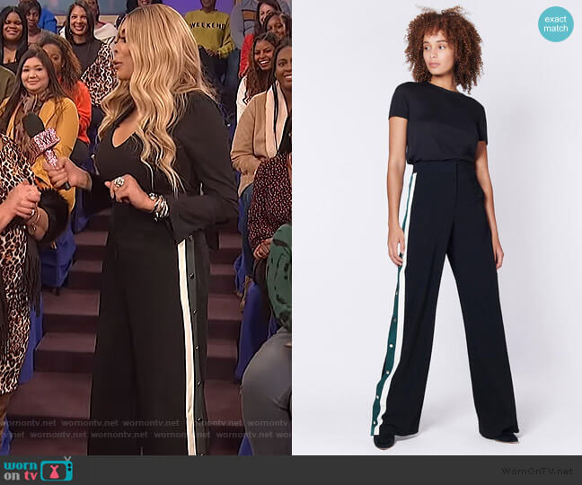 Russo Pants by Veronica Beard worn by Wendy Williams  on The Wendy Williams Show