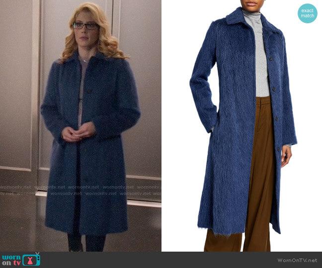 Vince Belted Wool-Blend Slim Coat worn by Felicity Smoak (Emily Bett Rickards) on Arrow