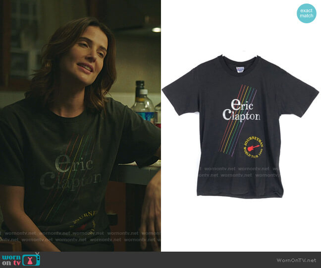 Vintage Eric Clapton Concert T-Shirt worn by Dex Parios (Cobie Smulders) on Stumptown