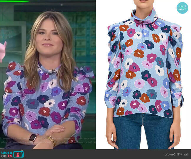 Winter Garden Blouse by Kate Spade worn by Jenna Bush Hager  on Today