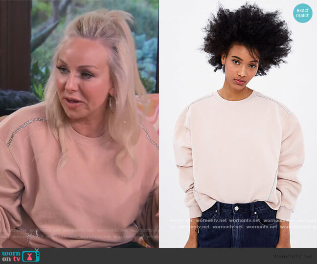 Embellished Sweatshirt by Zara worn by Margaret Josephs  on The Real Housewives of New Jersey