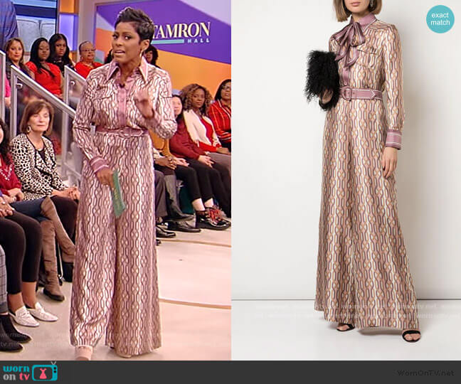 Super Eight Quartz Link-Print Shirt and Pants by Zimmermann worn by Tamron Hall  on Tamron Hall Show