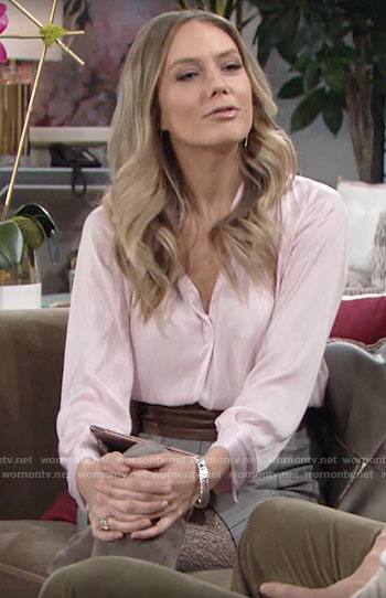Abby's light pink blouse on The Young and the Restless