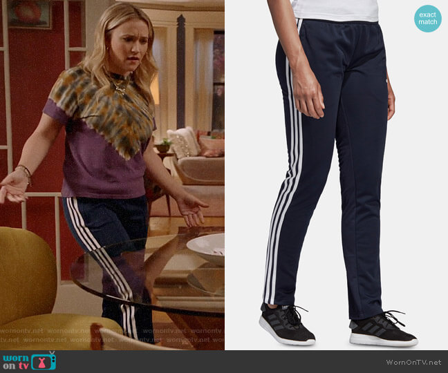 Adidas Essential 3-Stripe Tricot Pants worn by Roxy Doyle (Emily Osment) on Almost Family